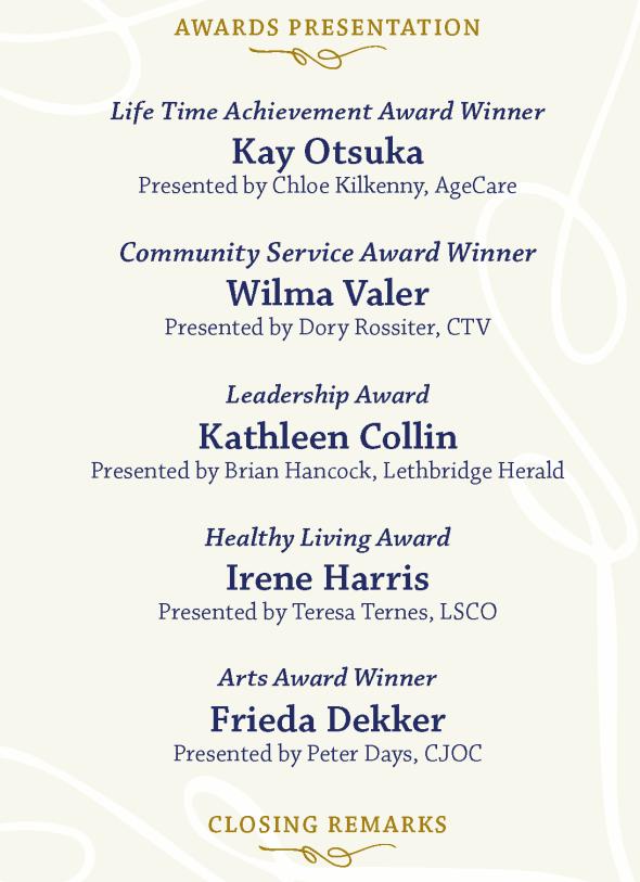 COL SODA Award Winners List