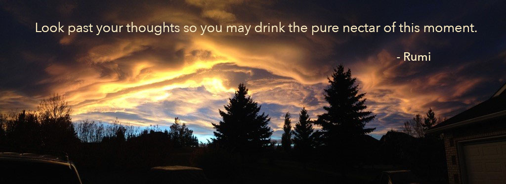 Fall evening sky on Fream HillQuote